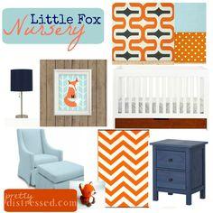 Project Nursery - Little Fox Nursery pretty distressed
