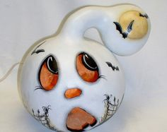 Halloween Gourd Witch House Hand Painted by FromGramsHouse