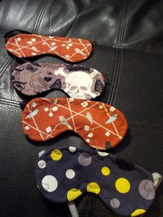 Sleep Mask pattern...I need a dozen of these...I wear them every night but lose them every morning - lol.