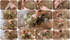 florist quality bow tutorial (for wreathes, pew ends, corsages, etc.)