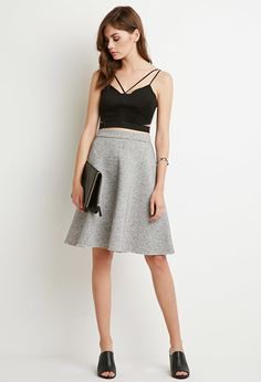 Heathered A-Line Skirt | Forever 21 - 2000173916