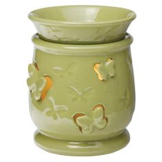 Flutterby Full-Size Scentsy Warmer -  Conjure the magic of the first green signs of spring with Flutterby. Fanciful butterfly cutouts cast delightful shadows on the wall when lit.