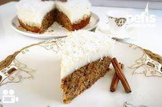 Havuçlu Cevizli Pasta Videolu Great Desserts, Cookie Desserts, Carrot And Walnut Cake, Tolle Desserts, Puff Pastry Recipes, Glaze Recipe, Pudding Cake, Turkish Recipes, Desert Recipes