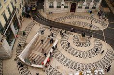 In Portugal you constantly walk on art Chiado Lisbonne Visit Portugal, Portugal Travel, Spain And Portugal, Portugal Trip, Algarve, Portuguese Culture, Voyage Europe, Sierra Nevada, Portsmouth