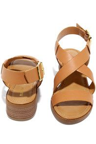 From the Yukon to the Yucatan, the Madden Girl Tulum Cognac Heeled Sandals are our vacation shoe of choice! Soft vegan leather straps crisscross and adjust at the ankle with a gold buckle.