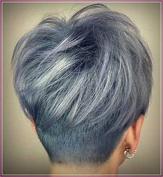 Best Short Hair Back View 2019 - Short Hair Styles Short Layered Haircuts, Cool Short Hairstyles, Pixie Hairstyles, Short Hair Cuts, Hairstyles 2018, Short Hair Back View, Curly Hair Styles, Makeup, Undercut Pixie