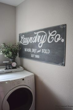 How to paint your own Fixer Upper Magnolia Market style. How to paint your own Fixer Upper Magnolia Market style. How to paint your own Fixer Upper Magnolia Market style. Rustic Laundry Rooms, Laundry Decor, Farmhouse Laundry Room, Laundry Room Signs, Small Laundry Rooms, Laundry Room Organization, Farmhouse Decor, Modern Farmhouse, Farmhouse Style