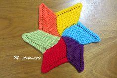 Starfish, uma toalhinha bem simpática.  Fiz assim, toda colorida porque adoro cataventos, então pensei em fazer parecida com um.  Agulha nº...