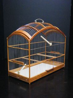 d3ac1419d Wooden Birdcage Hand Crafted Oak Wood Bird Cage SM