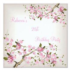 Cherry Bossom 21st Elegant Cream White Pink