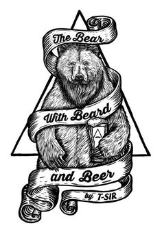 The Bear with Beard and Beer / Oscar Postigo