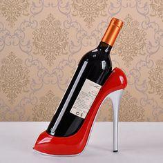 Wine Bottle Holder Wine Rack Creative shoe craft and ornament Wine Bottle Holder Barware Craft Gift Accessories Embellishment