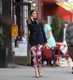 Olivia Palermo: floral pants. #amaze