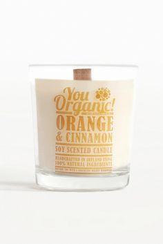 YouOrganic Orange and Cinnamon Eco Soy Wood Wick Candle