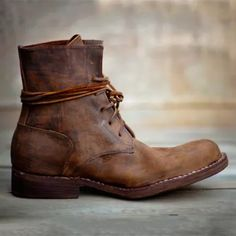Vintage Goodyear Handmade Genuine Leather Boots Goodyear Welt, Mens Short Boots, Mens Fall Boots, Mens Rugged Boots, Stylish Mens Fashion, Men Fashion, Leather Lace Up Boots, Men's Leather, Moda Masculina