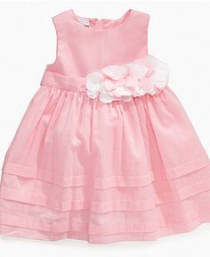 First Impressions Baby Dress, Baby Girls Flower Applique Dress - Kids - Macy's Boys And Girls Clothes, Dresses Kids Girl, Kids Outfits, Little Kid Fashion, Toddler Fashion, Kids Fashion, Baby Girl Frocks, Frocks For Girls, Toddler Dress