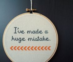 Cross stitch quote from Arrested Development by notsomodernmillie, $20.00