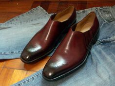 #Custom #bespoke #handmade #burgundy #loafer
