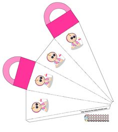 If you are planning to throw a baby shower and a girl is on her way then use these cute free printable favor bags to give baby shower favors and gifts to your party guests. Bricolage Baby Shower, Regalo Baby Shower, Baby Shower Crafts, Baby Shower Favors Girl, Baby Shower Niño, Baby Shower Parties, Baby Shower Themes, Favor Bags, Paper Dolls