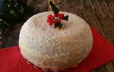Zuccotto brioche White Christmas, Christmas cake - Zuccotto brioche bianco natale, dolce natalizio