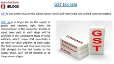 GST tax rate charged by the last dealer in the supply chain, with set-off benefits at all the previous stages. Indirect Tax, Tax Rate, Supply Chain, Infographics, Projects, How To Make, Log Projects, Blue Prints, Infographic