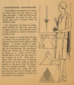 The Midvale Cottage Post: Home Sewing Tips from the 1920s. Arrowheads