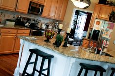 Remodelaholic | Scissors and Spatula's Kitchen Cabinets Makeover!