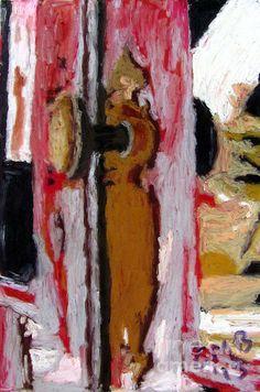 Title  Uma Porta   Artist  Greg Mason Burns   Medium  Painting - Oil Pastel On Glass