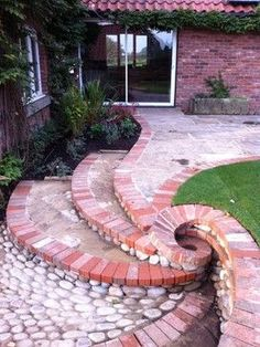 Brick Landscaping Ideas to Increase the Beauty of Homes Outdoor backyard landscaping landscaping garden landscaping Outdoor Landscaping, Front Yard Landscaping, Outdoor Gardens, Outdoor Decor, Landscaping Ideas, Hillside Landscaping, Inexpensive Landscaping, Natural Landscaping, Country Landscaping