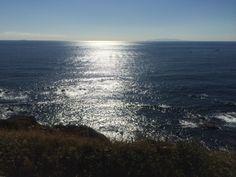 Sunshine on Pacific Ocean.