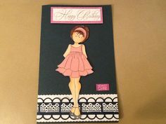 Dress is in velvet cardstock .... cute birthday card for a little girl.