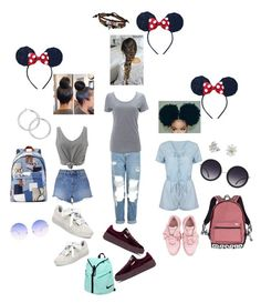 """multi- outfit: disney x puma✨"" by angeliqueamor on Polyvore featuring Topshop, Simplex Apparel, WithChic, T By Alexander Wang, Puma, NIKE, Victoria's Secret, Marc Jacobs, Bling Jewelry and Alice + Olivia"
