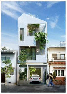 Contemporary House Exterior Design Facades Most Popular Ideas Minimalist House Design, Minimalist Architecture, Small House Design, Facade Architecture, Modern House Design, Facade Design, Exterior Design, Casa Loft, Townhouse Designs