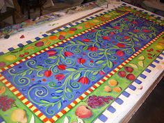 Painting It: Fruit Floorcloth