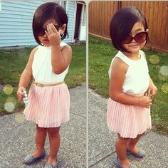 """short hair for little girls  -  to fix the """"did it herself"""" haircut"""