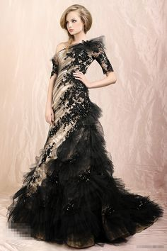 Trending What a beautiful black and gold wedding dress Would change the black to white