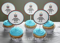 Robot cupcake picks