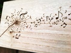 Hand burned original art design using Pyrography to burn on lasting images. - by winterhillcrafts on Etsy :)