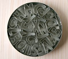 Cookie Cutter Set  Mini Alphabet by sweetestelle on Etsy, $14.00