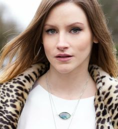 Marquise shaped labradorite Necklace | by kvbijou | worn by Styling My Life
