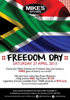Mikes Kitchen Port Elizabeth Freedom Day April 27th