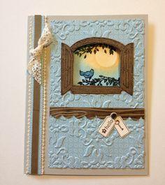 Cottage window stamp set. Card design inspired by Michelle Zindorf