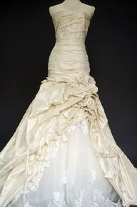 metallic wedding dress #weddings #gowns #bride
