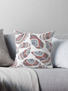 Boho Feathers  Throw Pillows