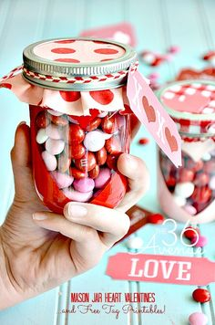 I love easy and quick handmade gift ideas and it is not different when it comes down to Valentine's Day Gifts.Today I am showing how to make a simple but adorable DIY See Through Heart Jar and I'm sharing some cuteFree Valentine Printables that you can use as little tags to give these DIYValentine Candy …