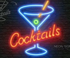Neon Light Sign Photoshop Actions