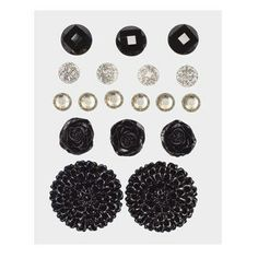 Z1892 -- Base & Bling Black Jewels -- $5.95.  2 – 22mm acrylic flowers 3 – 12mm resin flowers 6 – 6mm sparkles 4 – 7mm glitter gems 3 – 10mm enamel gems SHOP: www.keeleyskreations.ctmh.com