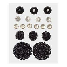 Z1892 -- Base & Bling Black Jewels -- $5.95.  2 – 22mm acrylic flowers 3 – 12mm resin flowers 6 – 6mm sparkles 4 – 7mm glitter gems 3 – 10mm enamel gems SHOP: www.keeleyskreations.ctmh.com