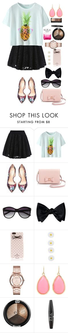 """""""Pineapple Crop"""" by panda-matowi0715 ❤ liked on Polyvore featuring Bebe, Ted Baker, Vince Camuto, Kate Spade, Accessorize, Marc by Marc Jacobs, Jimmy Choo and NYX"""