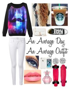 """""""me!!!"""" by cookiesforliam ❤ liked on Polyvore featuring Frame Denim, Converse, Laura Mercier and Rebecca Minkoff"""
